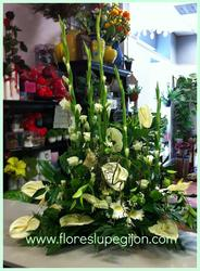 Centro vertical con anthurium